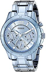 GUESS Women's U0704L2 Iconic Sky Blue Watch with Multi-Function Dial