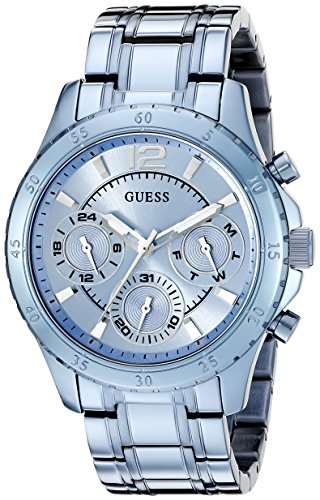 GUESS Women's U0704L2 Iconic Sky Blue Watch with Multi-Function ()