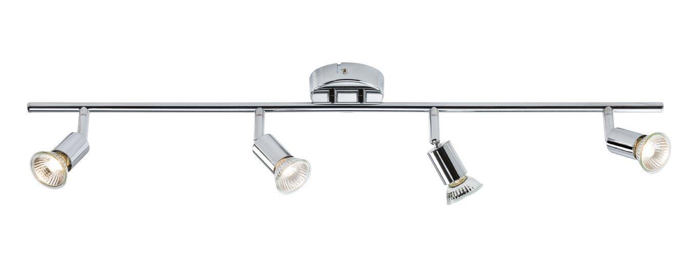 Knightbridge 230V GU10 Quad Bar Spotlight-Chrome, Silver MLA NSAVPGU4C