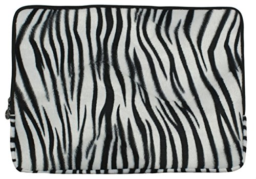 Faux-fur Zebra Animal Print Carrying Case Sleeve for Apple M