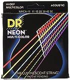 DR Strings NMCA-11 DR NEON Acoustic Strings, Custom Lite, Multi-Color