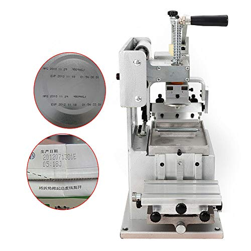 RanBB Manual Pad Printer, Single-Color Pad Printing Machine Pad Label Logo Machine Commercial Printing Equipment for Plate Pad DIY Logo Transfer 80×80mm