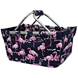 Flamingo NGIL Canvas Shopping, Market, Picnic Basket