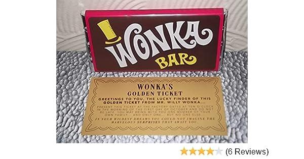 Wonka Chocolate Bar Gold Ticket Best On Amazon