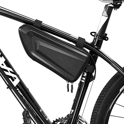 CASEIER Bike Bag – Bicycle Storage Frame Bag, Bike Triangle Saddle Frame Pouch For Road Mountain Cycling, Trek Bike…