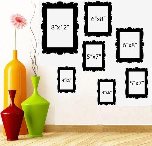 FAMILY TREE PICTURE FRAMES ~ WALL DECAL (1) 8
