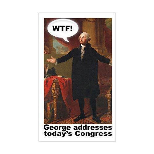 - CafePress George Washington WTF! Rectangle Sticker Rectangle Bumper Sticker Car Decal