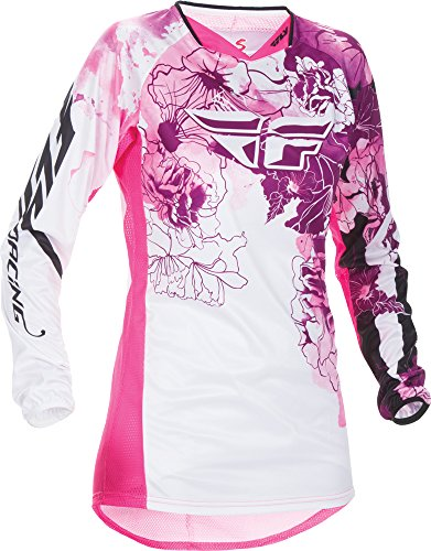 (Fly Racing Unisex-Adult Kinetic Women's Jersey Pink/Purple Youth Large)