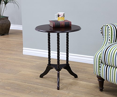 Frenchi Home Furnishing Round End Table, Cherry - Brown Cherry Telephone