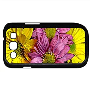 DAISY MIXTE (Flowers Series) Watercolor style - Case Cover For Samsung Galaxy S3 i9300 (Black)