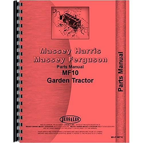 New Massey Ferguson 10 Lawn & Garden Tractor Parts Manual