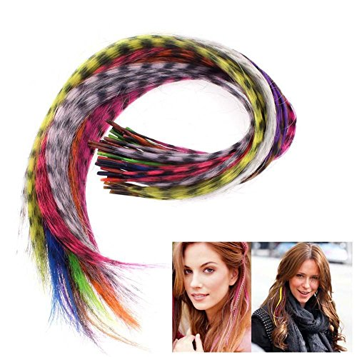 50pcs Grizzly synthetic Feather Extensions product image