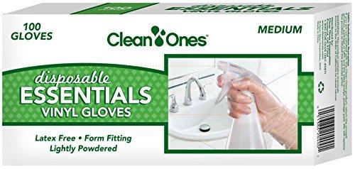 Clean Ones Disposable Essentials Latex Free Vinyl Gloves