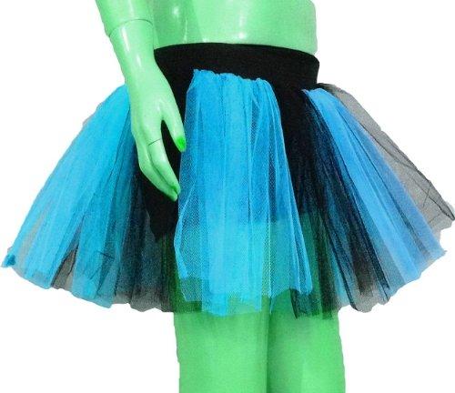 Blue Black 2 Tone Tutu Skirt Dance Fancy Costume Dress Party Free Shipping ()