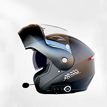 JL-Q Casco Inteligente de Motocicleta Casco antivaho ...