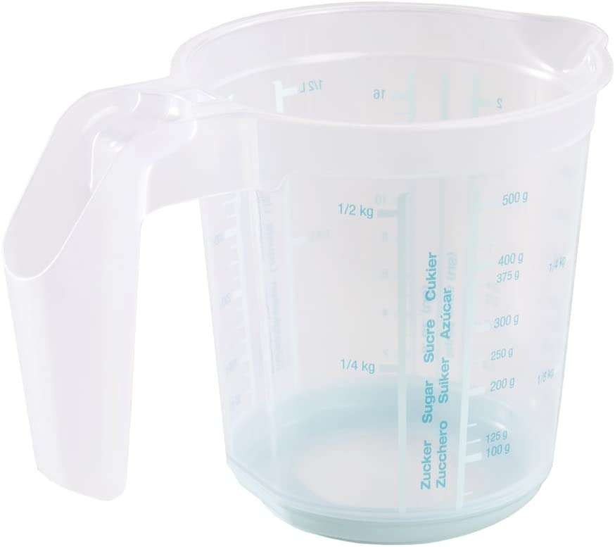 Aigue-Marine 500 ml keeeper Pichet Doseur avec Fonction Antid/érapante Massimo