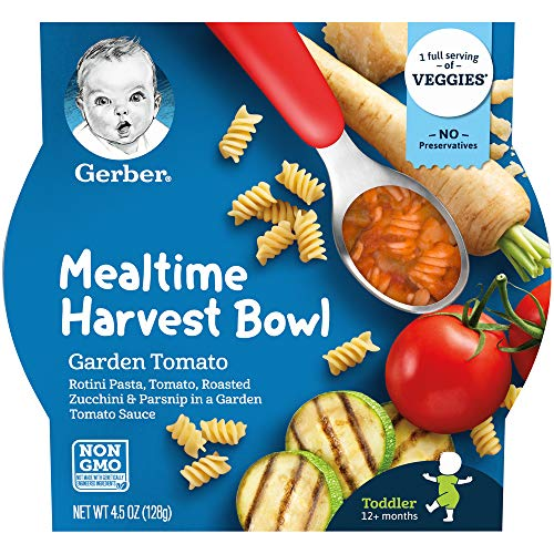 Gerber Up Age Mealtime Harvest Bowl Garden Tomato, 8Count