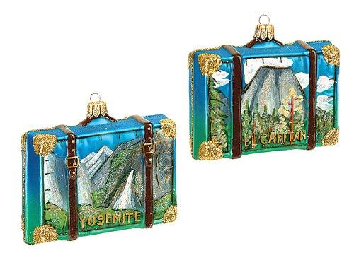 New Home Glass Ornament - Yosemite National Park Polish Blown Glass Christmas Ornament ONE Decoration New