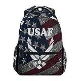 US Air Force School Backpack Large Shoulder Bookbag Laptop Daypack
