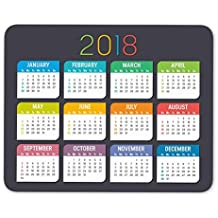 2018 Calendar Mouse Pad Anti-Slip Personalized Rectangle Gaming Rubber Mousepad