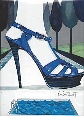 ebc88e544d5 Amazon.com: IllustratedPRINT AD For 2007 Yves Saint Laurent Blue Shoes By  Pool For Nordstrom: Entertainment Collectibles