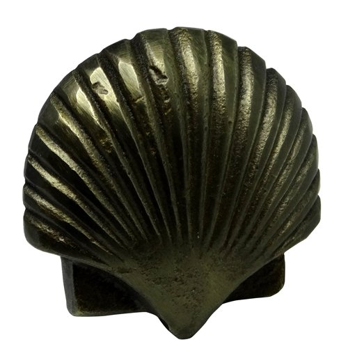 "Antique Brass Finish Iron Scallop Drawer Knob – 1.57""L Set of ()"