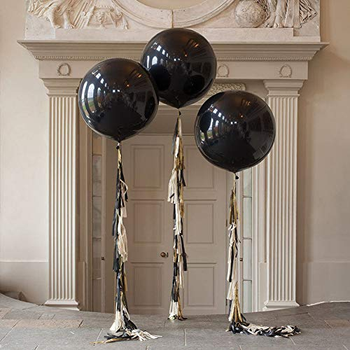 (36 inch Glitz and Glam Tassel Tail Black Giant Balloon for Halloween Party Wedding Decoration (3)