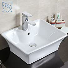 Decoraport White Rectangle Ceramic Vessel Vanity Sink Porcelain Above Counter Basin (Cl-1097)