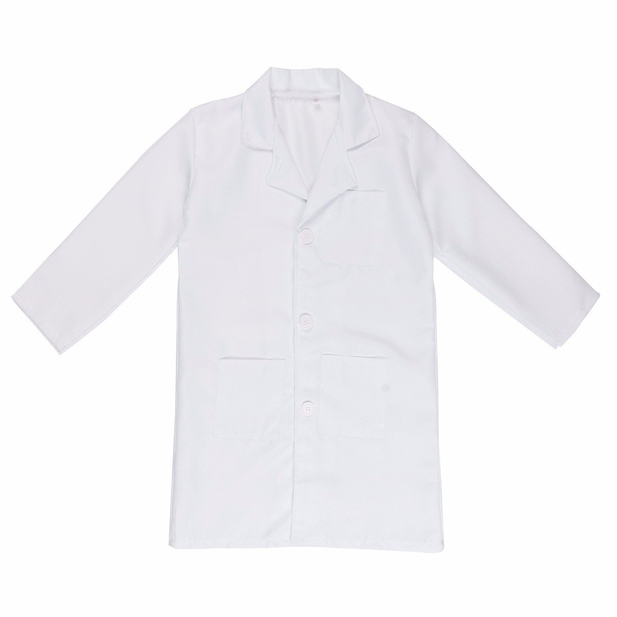 iEFiEL Unisex Kid's Lab Coat Long Sleeves Doctor Cosplay Fancy Dress Party Costume White 10-12
