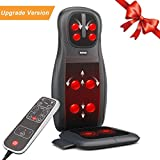 Massage Cushion, TENKER Shiatsu Neck & Back Seat Cushion with Heat Function and 3 Massage Styles Rolling, Spot, and Kneading - One Year Warranty