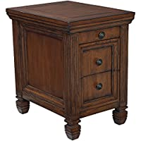 Hidden Treasures Chairside Table-Medium Wood Finish