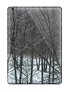 Fashionable Style Case Cover Skin For Ipad Air- Snow S