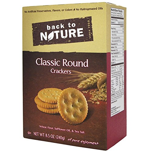 Back to Nature, Classic Round Crackers, 8.5 oz (240 g) Back to Nature, Classic Round Crackers, 8.5 oz (240 g)