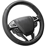 SEG Direct Black Microfiber Leather Auto Car Steering Wheel Cover Universal 15 inch: more info
