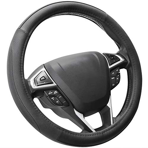 SEG Direct Microfiber Leather Car Steering Wheel Cover