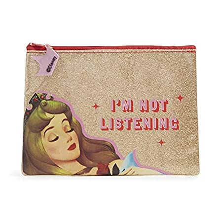 Astuccio portapenne principesse Disney - Astuccio glitter oro Principessa Aurora - dimensione 20 x 15 cm