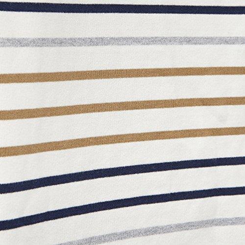 Joules Harbour Ladies Top (T) Creme Multi Stripe