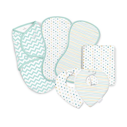 SwaddleMe Essentials 6 Piece Gift Set, Geo Party, One Size