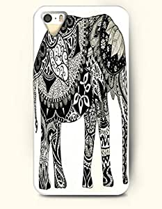 iPhone 5 / 5S Case, OOFIT Phone Cover Series for Apple iPhone 5 /5S Case -- Ornate Elephant Indian Elephant