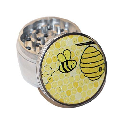 Bee-Design-Medium-Size-4pcs-Aluminum-Herbal-or-Tobacco-Grinder-G50-G82615-4