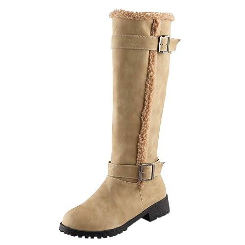 67e718a4be1 SamMoSon Women s High-Heeled Boots Knee Boots