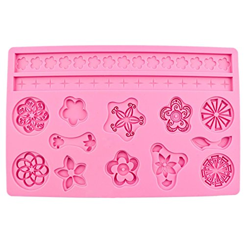 Finest Popular Silicone Mold Flower Decorating Cake Tools Wedding Christmas Birthday Anniversary Kitchen Topper Flower Fondant Mould Supplies DIY Tips Chocolate Candy Ice Cupcake Vintage Kit Set