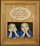 8x10 A Mother of Boys Photo & Poetry Frame ~ Holds a Landscape 5x7 Picture Gift for Mom
