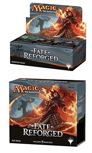 Magic: the Gathering: Fate Reforged Combo Pack (1 Booster Box & 1 Fat Pack) Plus Free Pack of AoM Sleeves by Magic: the Gathering