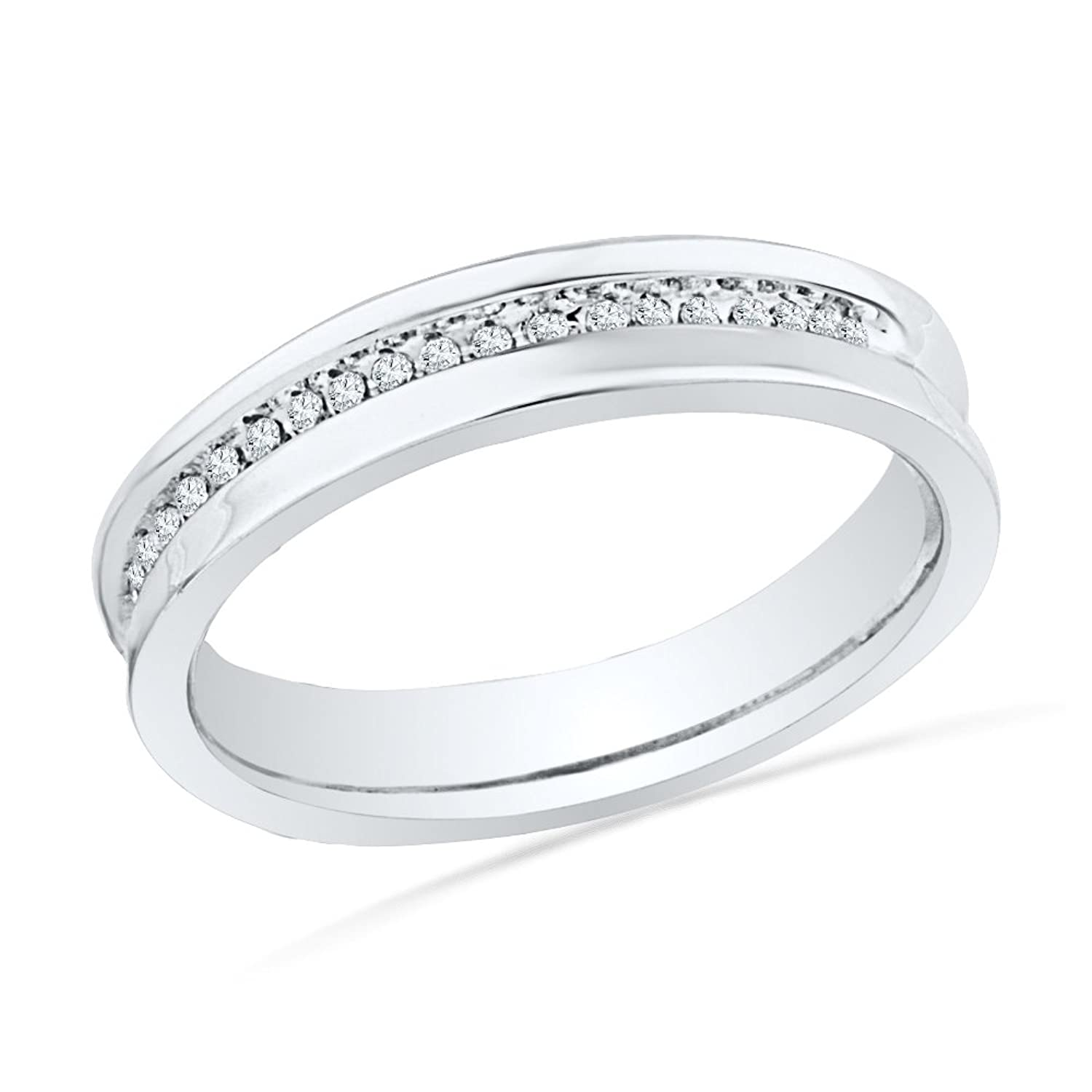 Sterling Silver Round Diamond Fashion Ring (1/10 cttw)