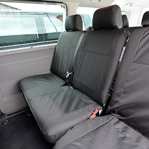 UK Custom Covers SC212B-SC213B Tailored Heavy Duty Waterproof 2nd Row Seat Covers -Black