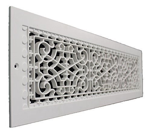 SMI Ventilation Products VWM630 Cold Air Return - 6 in x 30 in Victorian Style Wall Mount - Overall Dimensions 8 in x 32 in Decorative Return Air Flat Vent