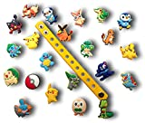 Cute Jibbitz Shoe Charms PVC Plug by Nenistore|Accessories for Croc Shoes & Bracelet Wristband Party Gifts | Pokemon (Set of 8 assorted pcs) FREE 01 Silicone Wristband 7 inches