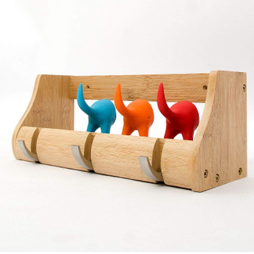 Medium Best Coat Stand- Nordic Solid Wood Coat Rack Wall-Mounted Hanger Bedroom Coat Hook Porch Wall Shelf -Home Decor (Size   M)