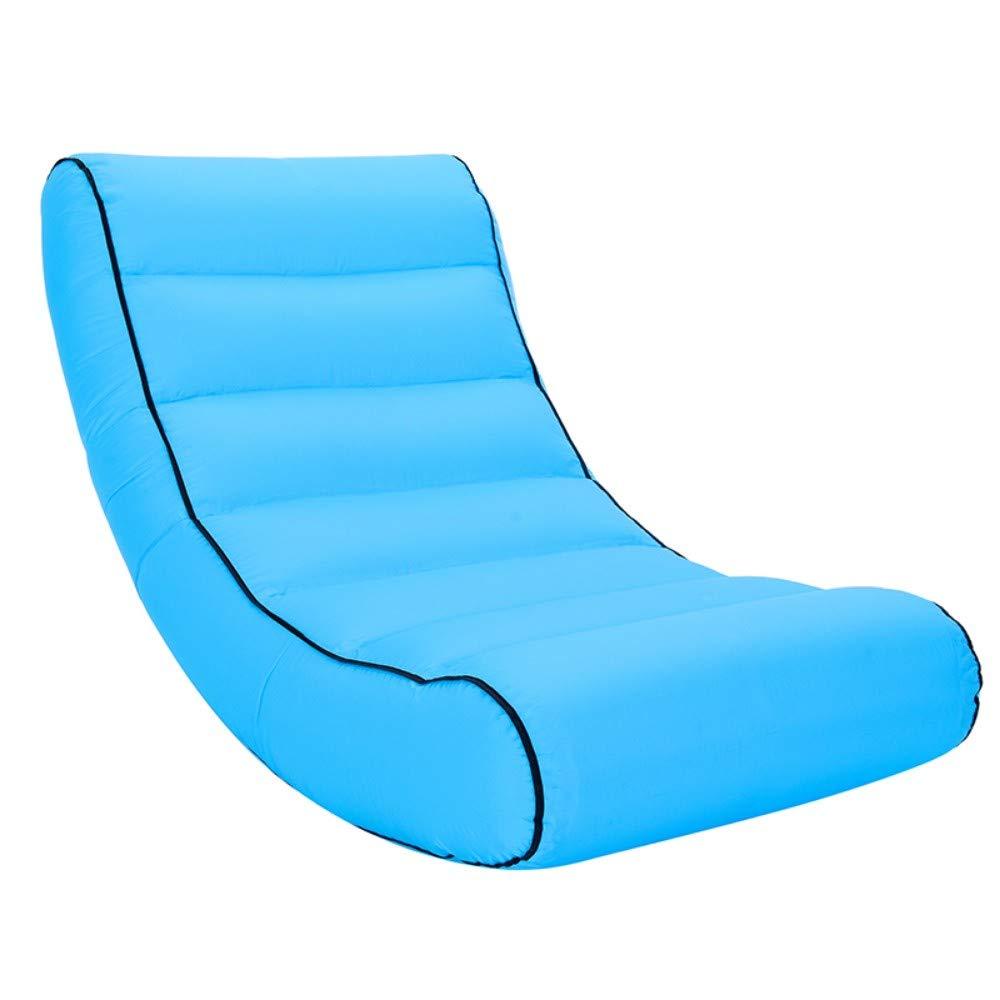 Sky bleu grand Mcho&ff Sac de Couchage léger Imperméable sur Sac Gonflable Canapé Paresseux Camping Sacs de Couchage lit d'air Adulte Lounge Lounge de Plage Pliage Rapide, Bleu Ciel, L